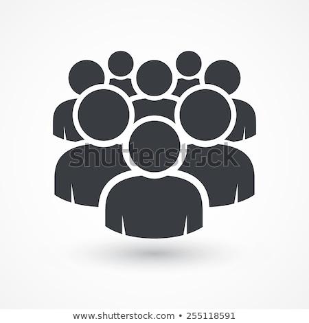 people teamwork workers icon design stock photo © blaskorizov