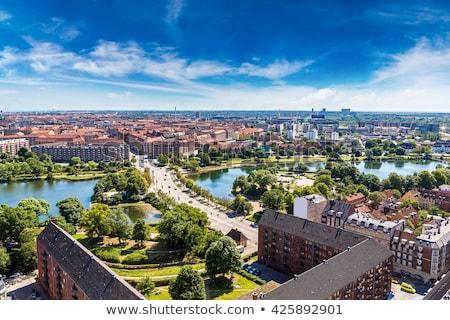 Kopenhag Danimarka stilize görüntü şehir turizm Stok fotoğraf © rogistok