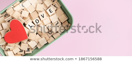 Pile of red and pink hearts with the word love stock photo © jaffarali