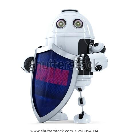 robot · kalkan · spam · koruma · yalıtılmış - stok fotoğraf © kirill_m