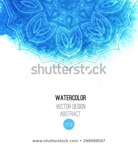 abstract artistic blue diwali background stock photo © pathakdesigner