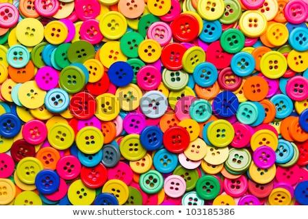 ミシン · ボタン · セット · 白 · デザイン - ストックフォト © teerawit