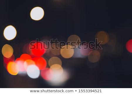 Bokeh ışık noktalar bulanık kırmızı mavi Stok fotoğraf © robinsonthomas