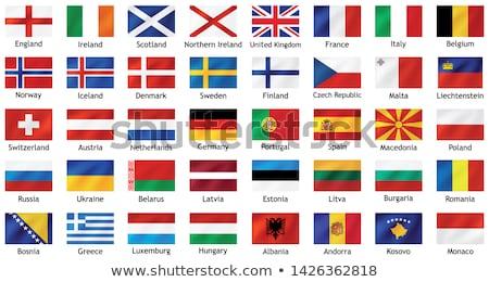 Verenigd Koninkrijk Monaco vlaggen puzzel geïsoleerd witte Stockfoto © Istanbul2009