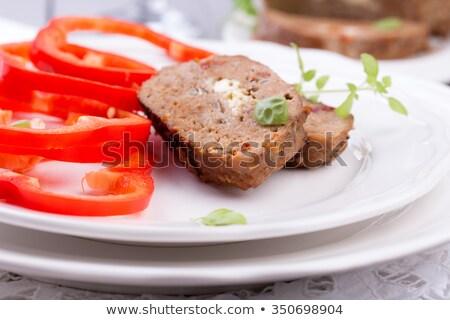 Slices of Homemade Meatloaf Stock photo © zhekos