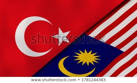 Turkije Maleisië vlaggen puzzel geïsoleerd witte Stockfoto © Istanbul2009