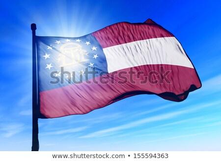 Egyesült Királyság Grúzia zászlók puzzle izolált fehér Stock fotó © Istanbul2009