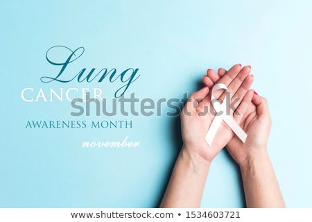 Lung Cancer. Medical Concept on Blue Background. Stock photo © tashatuvango
