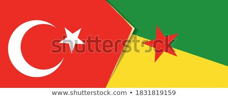 Turkey and French Guiana Flags  Stock photo © Istanbul2009