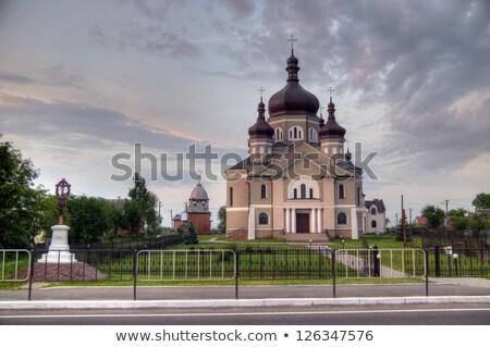 教会 村 地域 ウクライナ イエス 青 ストックフォト © artfotoss