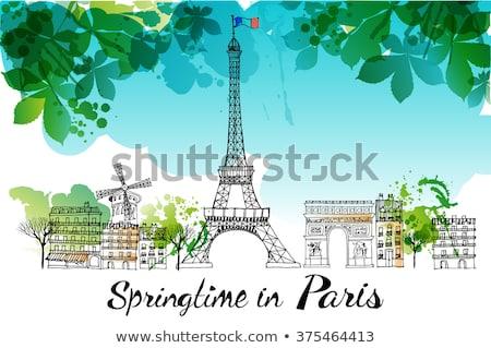 peace for paris vector illustration stock photo © rizwanali3d