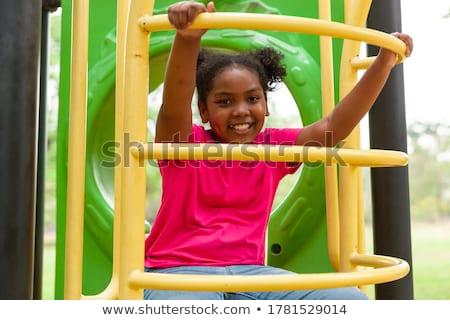 Portrait fille aire de jeux famille cheveux amusement Photo stock © Paha_L
