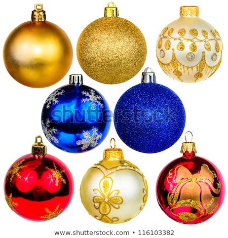 Sarı Noel top dekorasyon cam Stok fotoğraf © rommeo79