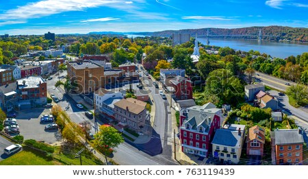 Fall over the Hudson valley Stock photo © rmbarricarte