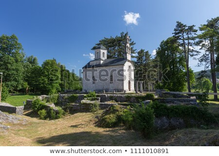 Kerk Montenegro ruines oude klooster zomer Stockfoto © vlad_star