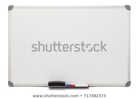 empty board isolated on white stock photo © shutswis
