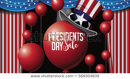 Sale Presidents Day. Uncle Sams hat Stock photo © orensila