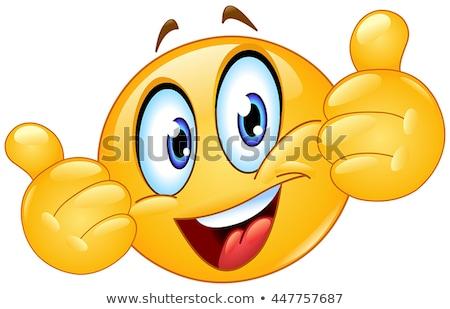 Daumen up Emoticon wie Symbol Stock foto © ikopylov