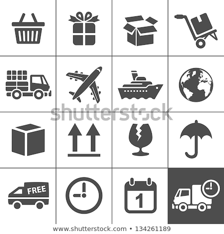 Gratis verzending vak icon illustratie symbool ontwerp Stockfoto © kiddaikiddee
