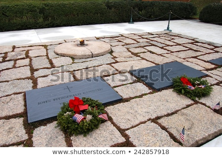 John F. Kennedy Gravestone stock photo © tmainiero