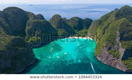 sziget · türkiz · tenger · légifelvétel · szigetvilág · nyár - stock fotó © mikko