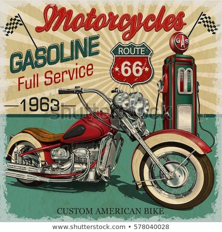Snelweg oude poster gestileerde weg vervoer Stockfoto © tracer