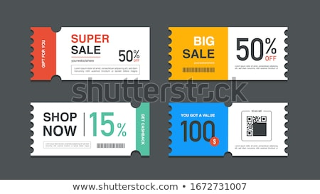Reclame coupons vector symbool grijs business Stockfoto © m_pavlov