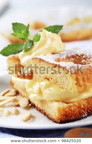 vanille · vla · room · cake · dessert · oranje - stockfoto © digifoodstock