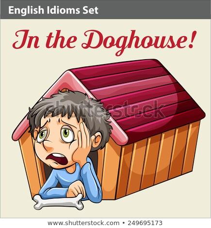 мальчика внутри дома древесины глазах студент Сток-фото © bluering