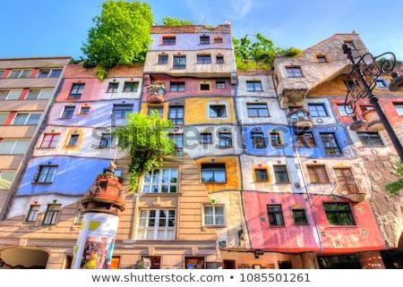 Casa Vienna Austria colorato facciata design Foto d'archivio © vladacanon