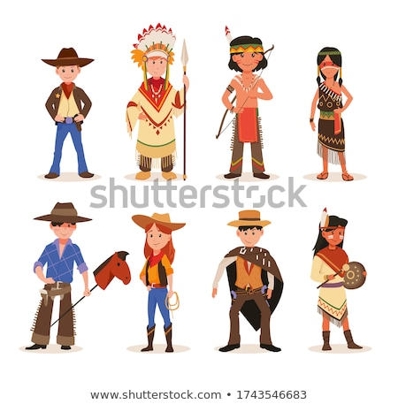 Cowboy with lasso. American Western character. Stock photo © Aleksangel