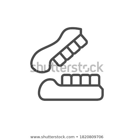 Falso dentes gipsita mandíbula médico laboratório Foto stock © grafvision
