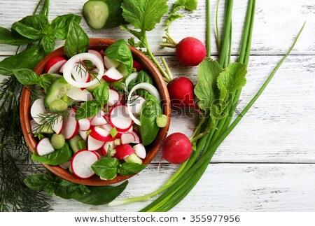 Saláta pázsit szeletel retek tál rakéta Stock fotó © Digifoodstock