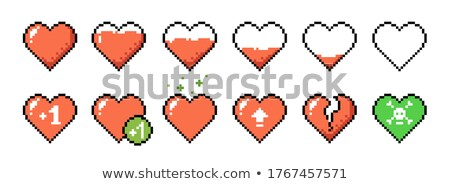 blanco · vector · corazón · rojo · rosa - foto stock © alonperf