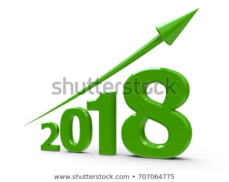 green arrow up with 2017 stock photo © oakozhan