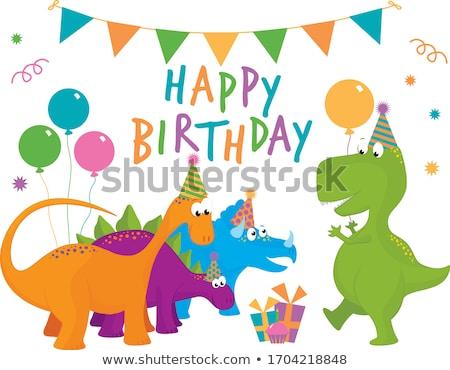 set of five cartoon dinosaurs for kids stock photo © adrian_n