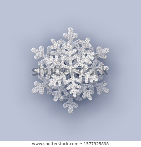 Snowflakes pattern 3D. Snow texture. Winter background. Snowfall Stock photo © popaukropa
