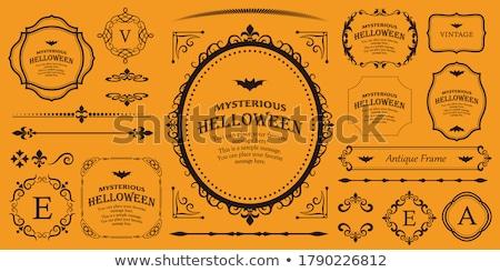 halloween · keret · grunge · denevér · sütőtök · boszorkány - stock fotó © kali