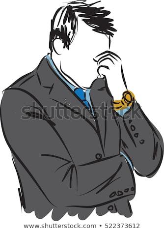 man face character vector illustration clip art image stock photo © vectorworks51