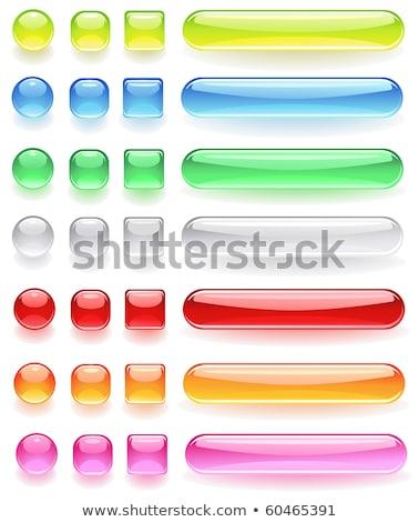 ícones do computador brilhante vidro transparente branco Foto stock © blackmoon979