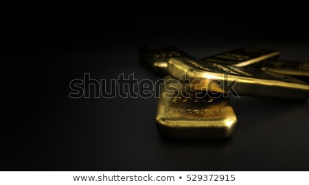 commodities gold bullion bars over black stock photo © olivier_le_moal
