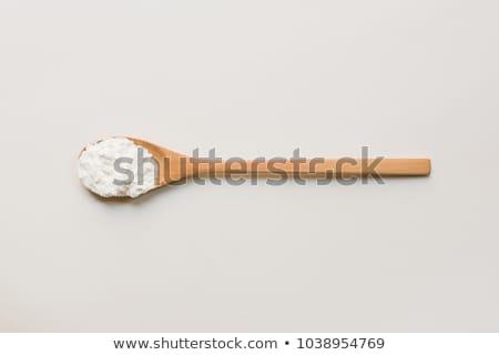 Wheat flour on wooden spoon Stock photo © Digifoodstock