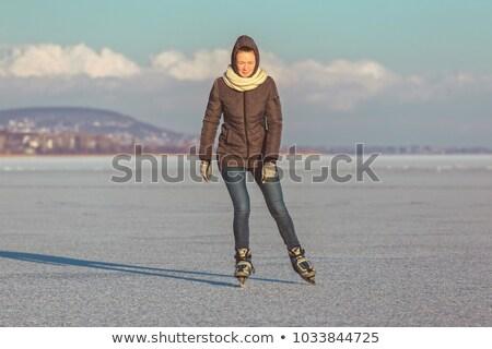 катание озеро Балатон Венгрия женщины Сток-фото © digoarpi