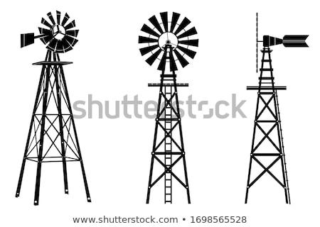 Oude windmolen hemel bouw energie architectuur Stockfoto © njaj