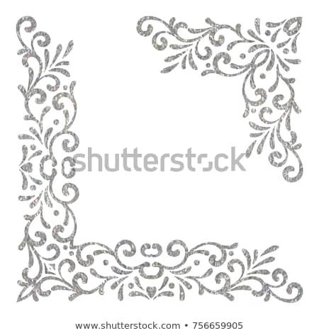 Dekoratif gümüş dantel altın moda dizayn Stok fotoğraf © Nneirda