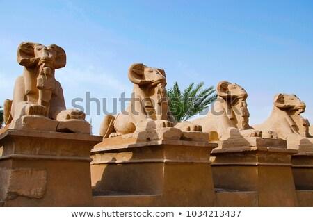 Ruiny świątyni luxor retro starożytnych kolumnie Zdjęcia stock © ssuaphoto