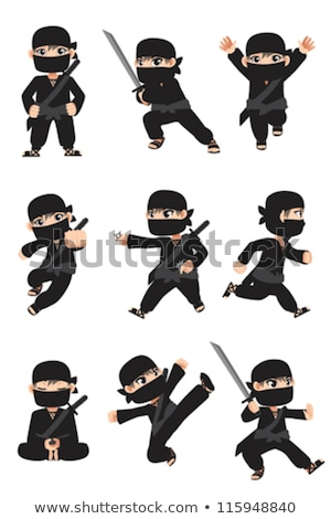 Ninja In Different Poses Stockfoto © Artisticco