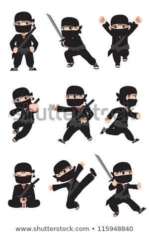 Ninja diferente formato eps 10 esportes Foto stock © yuriytsirkunov
