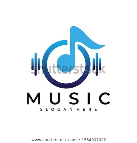 Música logotipo nota design de logotipo 10 abstrato Foto stock © sdCrea