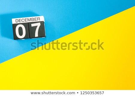 December kalender internationale burgerlijk luchtvaart Stockfoto © Oakozhan